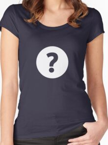 Question Mark - style 4 Women's Fitted Scoop T-Shirt