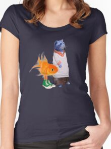 The Amazing World of Gumball in real life Women's Fitted Scoop T-Shirt