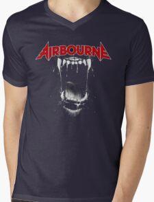 Airbourne - Black Dog Mens V-Neck T-Shirt