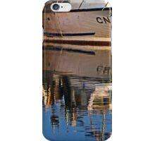 Two boats and their reflection iPhone Case/Skin
