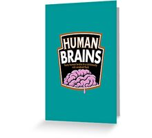 Human Brains Greeting Card