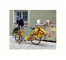 The Mailman Art Print