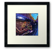 The Boat's a Bit Unsteady. Framed Print