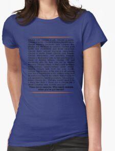 Trainspotting speech Womens Fitted T-Shirt
