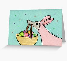 Greyhound Easter Bunny Greeting Card