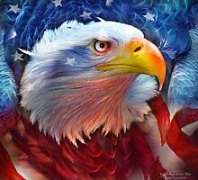 Eagle - Red White Blue by Carol  Cavalaris