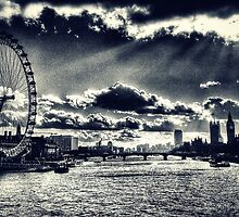London Icons Black and White by Scott Anderson