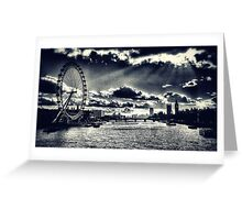 London Icons Black and White Greeting Card