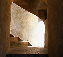 Shadow Stairs - Krivoklat Castle, Czech Republic by David J Dionne