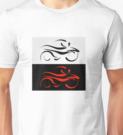 Motorbike with abstract lines Unisex T-Shirt