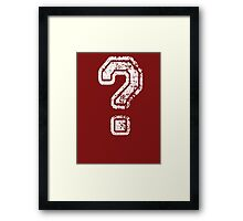 Question Mark - style 5 Framed Print