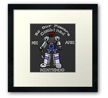 Nintendo Megazord Framed Print