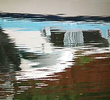 Boat reflection abstract by buttonpresser