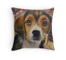 Picasso The Beagle Throw Pillow