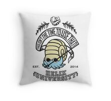 Helix Fossil University 2 Throw Pillow