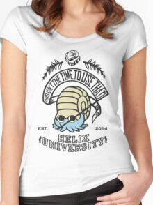 Helix Fossil University 2 Women's Fitted Scoop T-Shirt