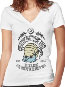 Helix Fossil University 2 Women's Fitted V-Neck T-Shirt