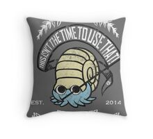 Helix Fossil University Throw Pillow