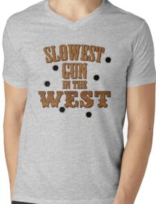 Slowest Gun in the West Mens V-Neck T-Shirt