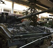 Abbot 105mm Self-Propelled Gun by mike  jordan.