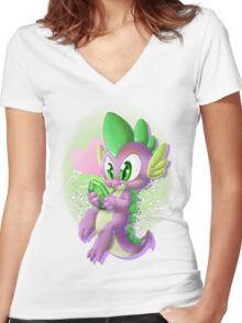 SPIKE IS KAWAII Women's Fitted V-Neck T-Shirt