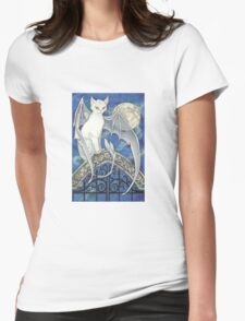 The Watcher at the Gate Womens Fitted T-Shirt