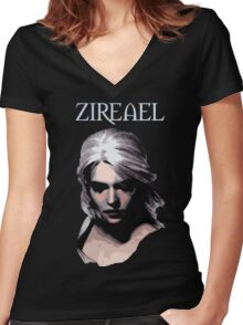 The Witcher - Ciri Zireael Women's Fitted V-Neck T-Shirt