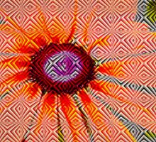 Light orange flower design Sticker