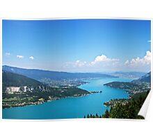 Le lac d'Annecy Poster