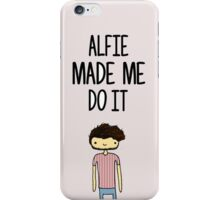 'Alfie Made Me Do It' Alfie Deyes Cartoon iPhone Case/Skin