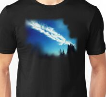 Sky clouds and below Unisex T-Shirt