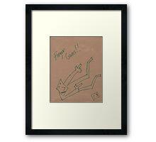 """Finger Guns"" by Richard F. Yates Framed Print"