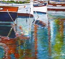 French Reflections, Sanary sur Mer, France by JackieSherwood