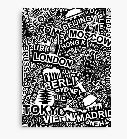 World City Doodle Canvas Print