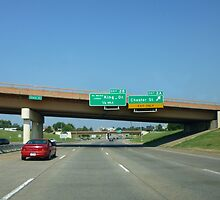 Freeway Sign, Martin Luther Blvd by WildestArt