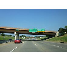 Freeway Sign, Martin Luther Blvd Photographic Print