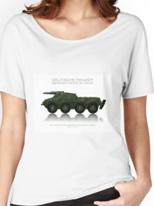 Sd. Kfz. 234/3 - German tank - Heavy armored reconnaissance cars - 7.5 cm Women's Relaxed Fit T-Shirt
