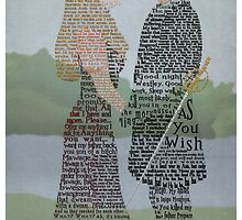 Princess Bride Typography by SkahfeeStudios