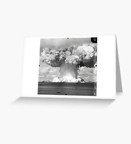 Baker Test atomic explosion Operation Crossroads (July 25 1946) Greeting Card