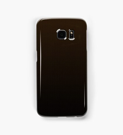 Carbon fibre orange pattern Samsung Galaxy Case/Skin