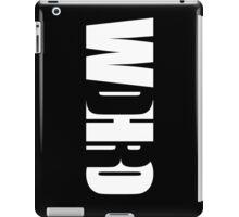 WDHRO (DR WHO, Vertical, Black) iPad Case/Skin