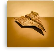 Paper Airplanes of Wood 5 Canvas Print