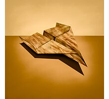 Paper Airplanes of Wood 5 Photographic Print