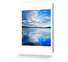 Lake reflecting sky Greeting Card
