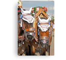 Beer-Wagon Horses - Munich Oktoberfest Canvas Print