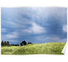Storm Over Grassy Dunes Poster
