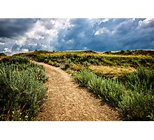 Trail in Badlands in Alberta, Canada Photographic Print