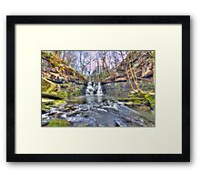 Goit Stock Waterfall Winter Framed Print