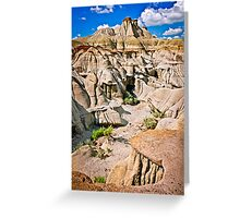 Badlands in Alberta, Canada Greeting Card