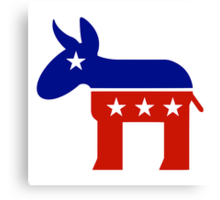 Democrat Donkey New Canvas Print
